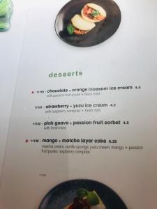 Wagamama Vegan desserts