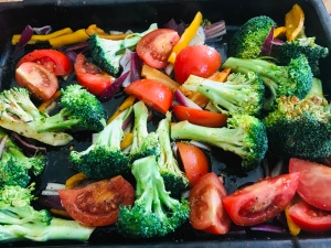 Roasted Broccoli Tray Bake