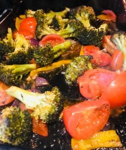 Roasted Broccoli Tray Bake