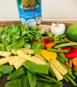 Vegan Red Thai Curry ingredients