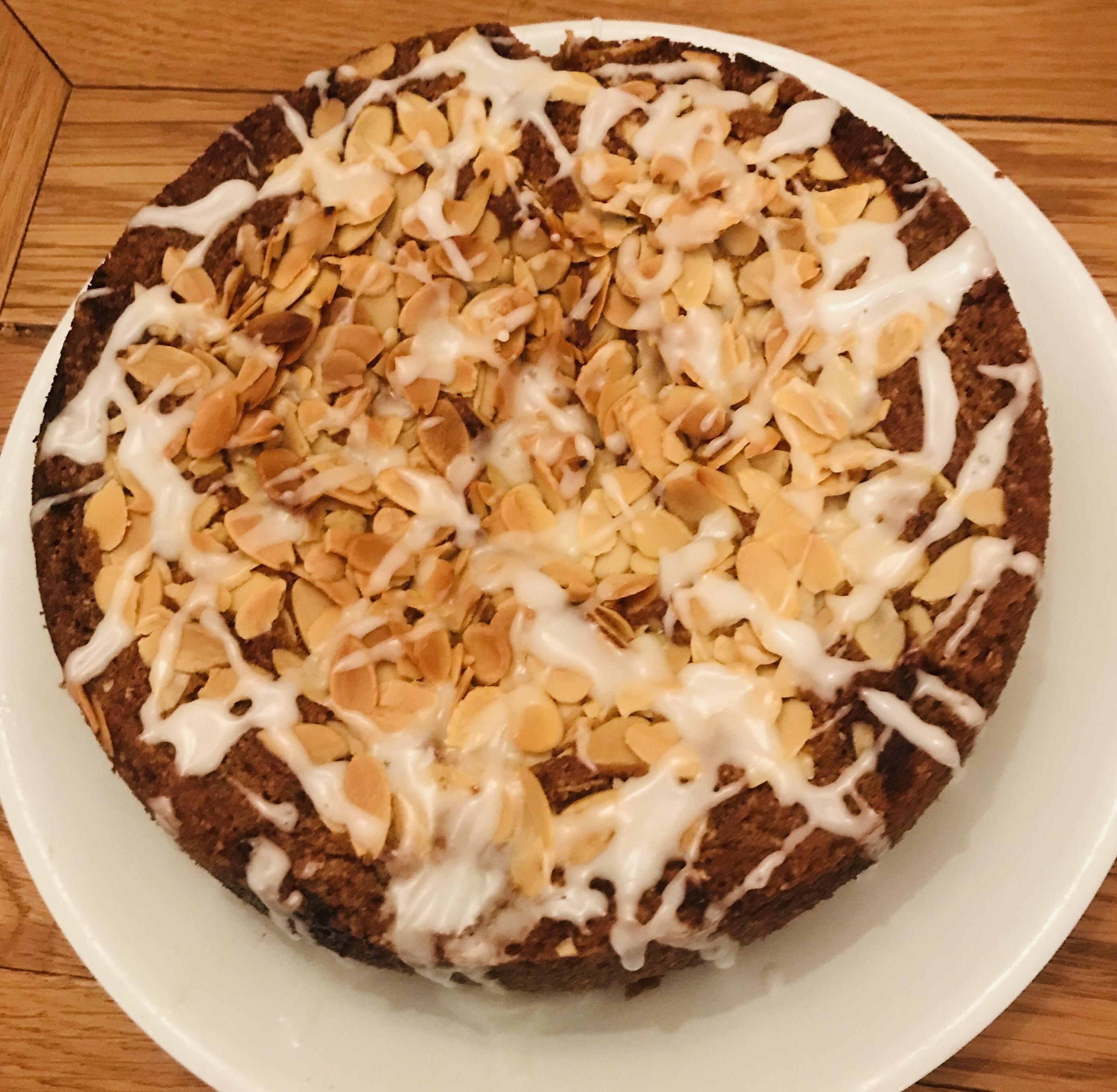Cherry Almond cake (Vegan & Dairy Free)