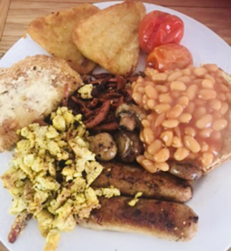 Vegan breakfast fry up
