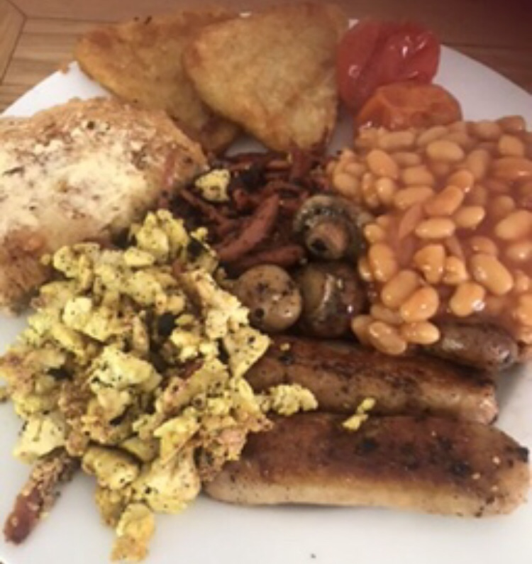 Vegan / plant based fry up with tofu scramble