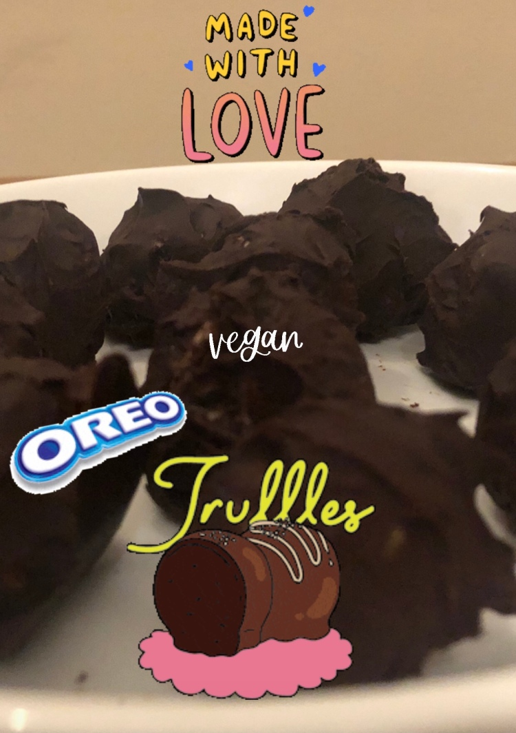 Oreo 3 ingredients chocolate truffles vegan & dairy free