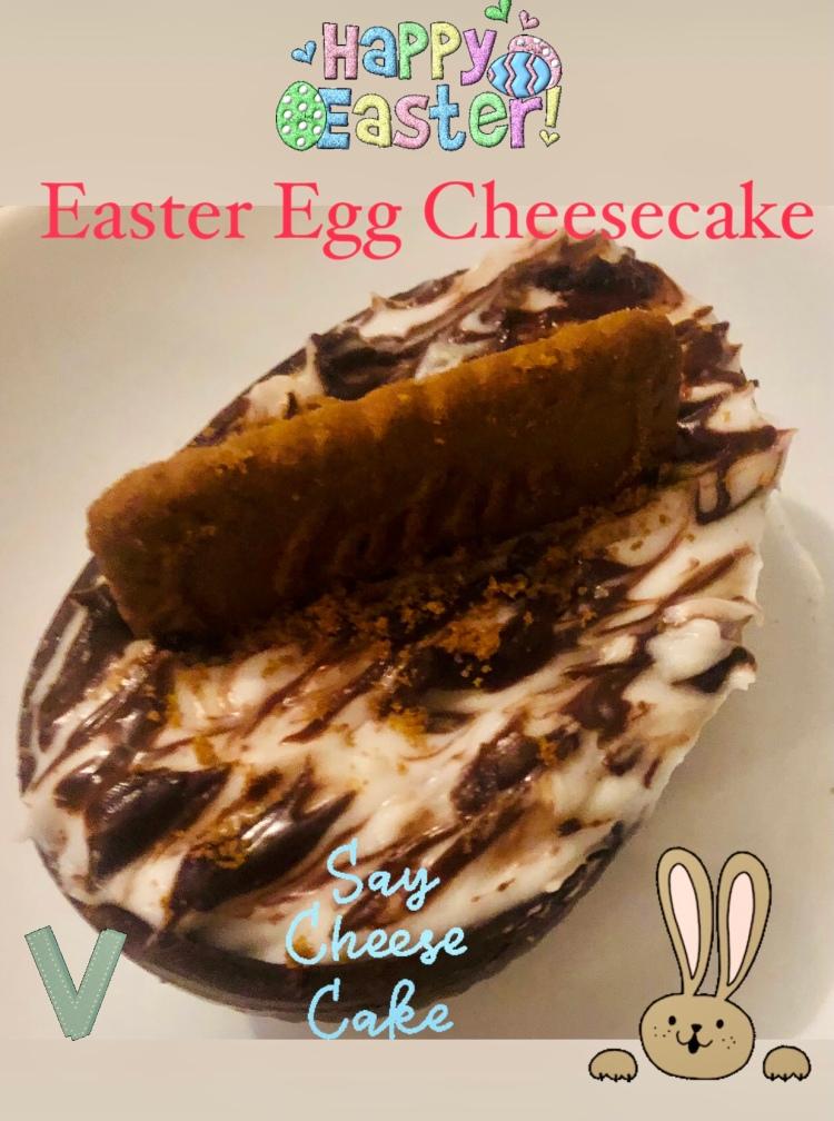 Easter Egg Cheesecake vegan & dairy free